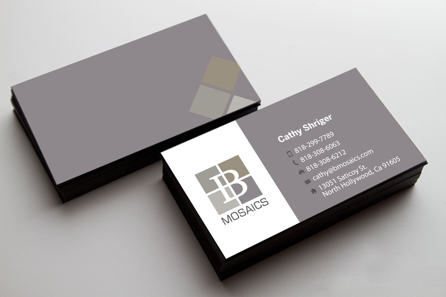 Bmosaics business cards hanidesign webgraphic design branding graphic design colourmoves