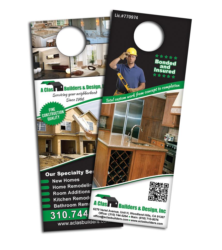 Door Hanger Design a clas construction door hangers design - hanidesign web&graphic