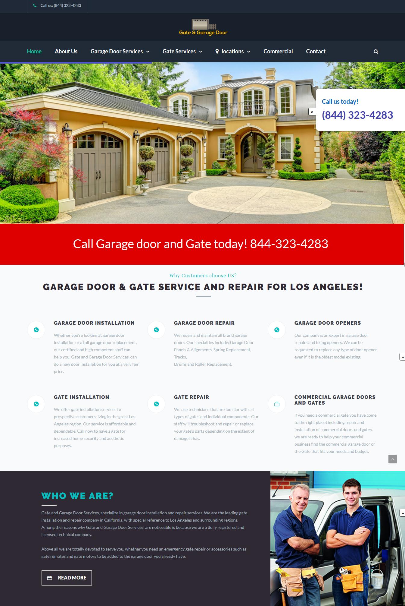 Garage door and Gate