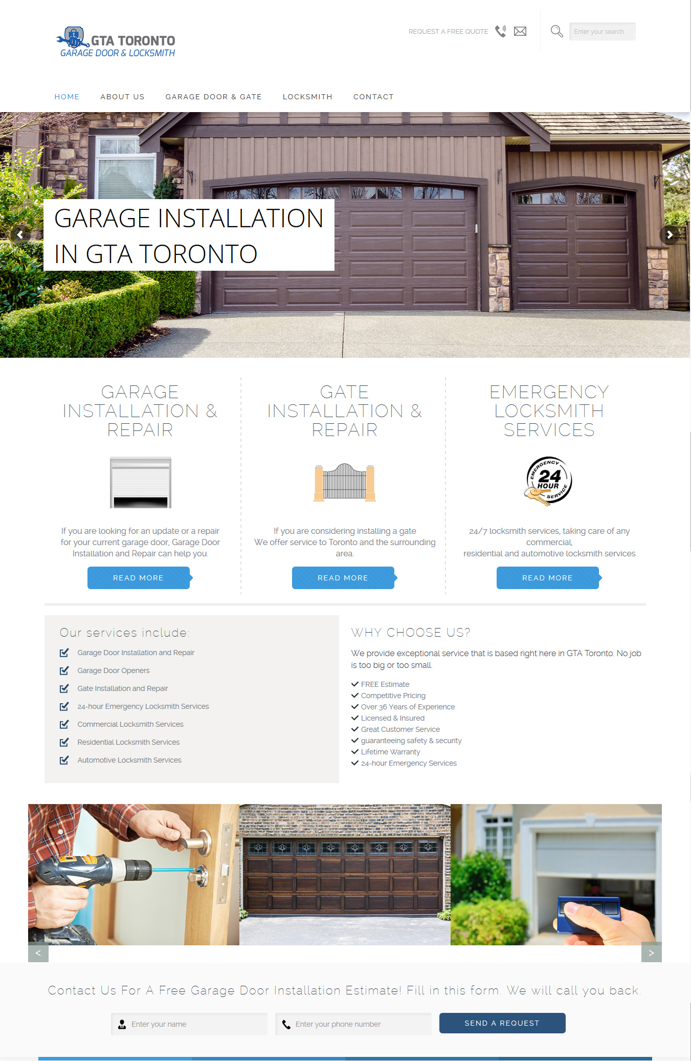 Toronto Garage Door And Locksmith Hanidesign WebampGraphic